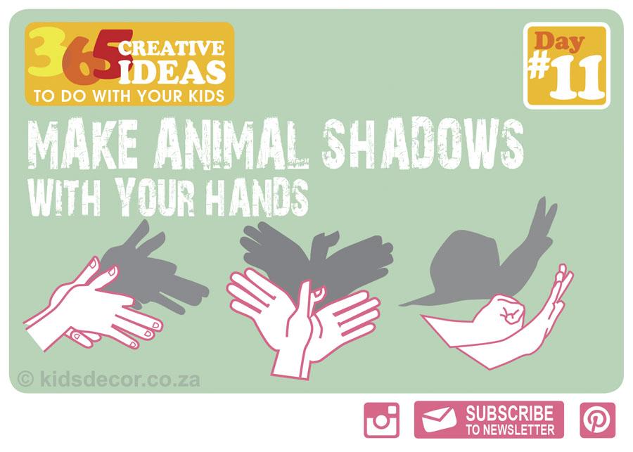 11 animal shadows kids decor